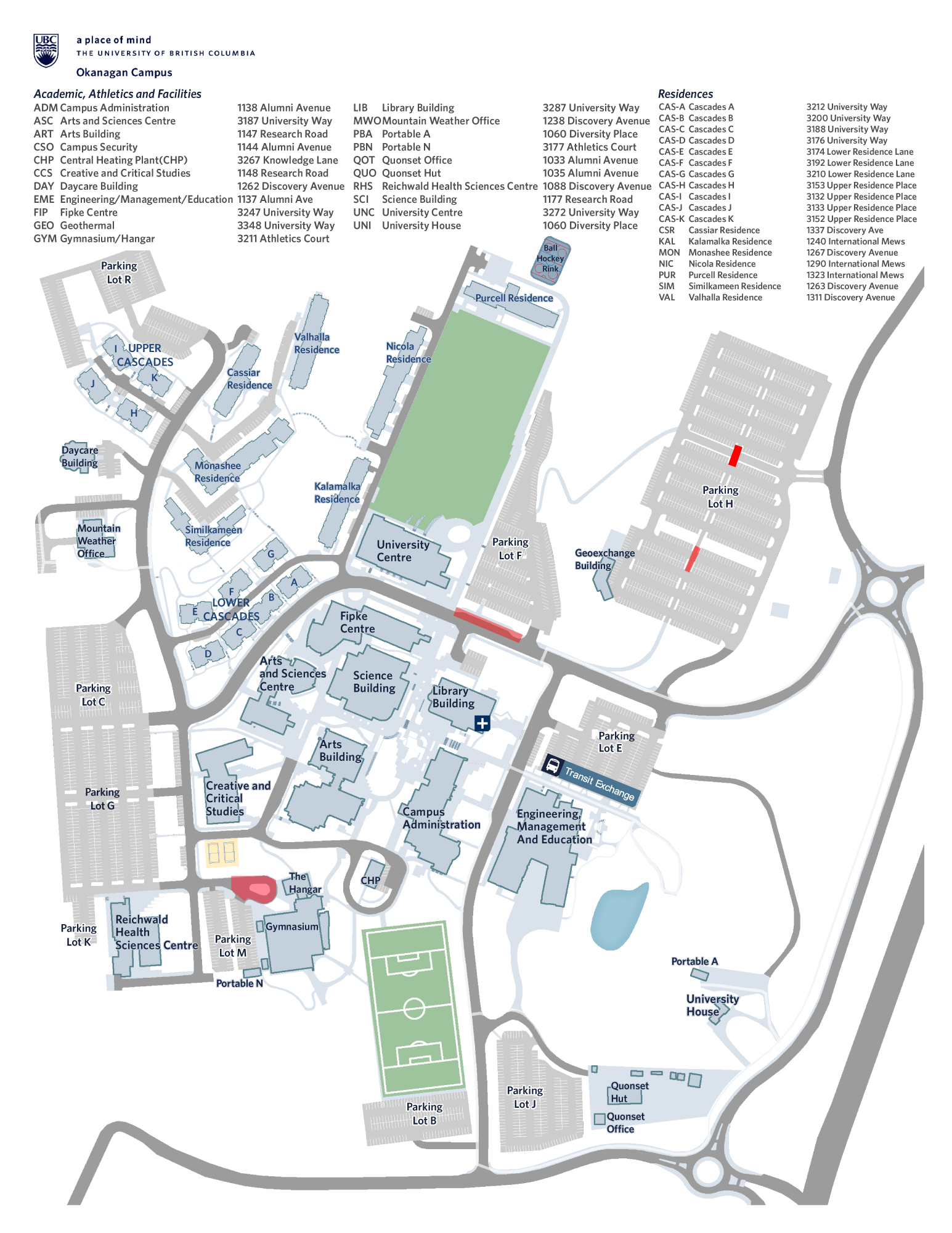 Ubc Okanagan Map Make sure to get to campus early for graduation