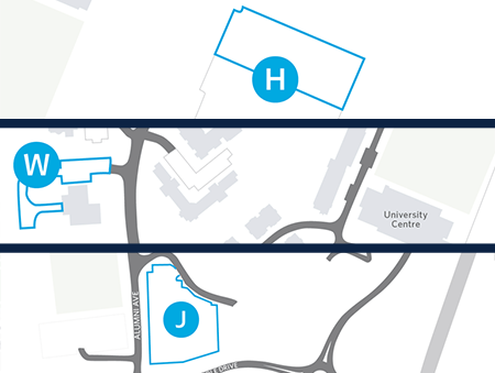 Map of suggested employee parking during graduation