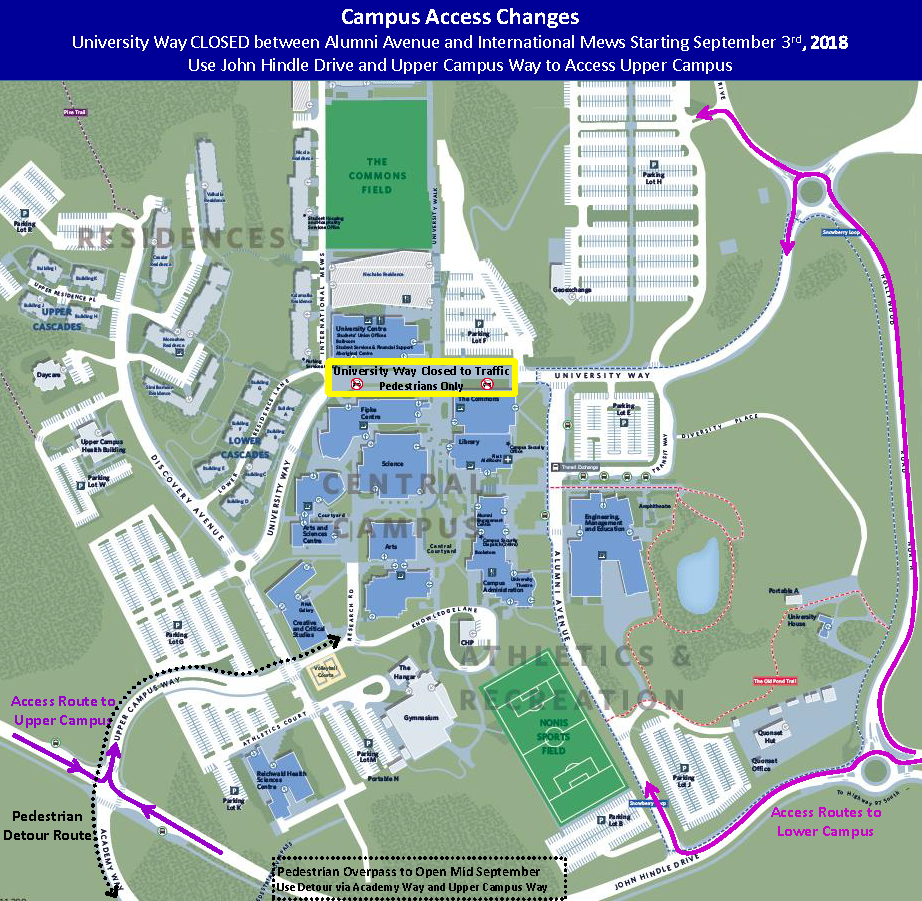 Ubc Okanagan Map Access to Upper Campus and other new transportation options this fall Ubc Okanagan Map