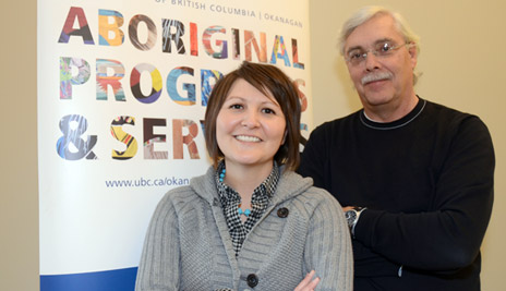 Adrienne Vedan, acting director, and Lyle Mueller, former director, of Aboriginal Programs and Services