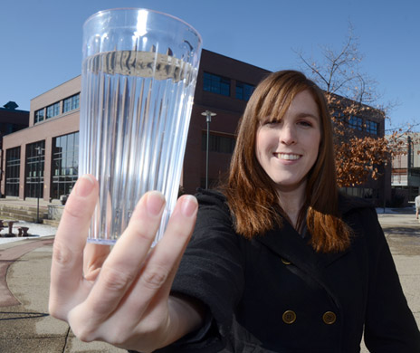 Rhiannon Wallace, 2012 World Water Day student coordinator at UBC's Okanagan campus, wants students to get involved in promoting sustainable management of water resources.