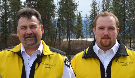 Securiguard employees Dale Wittich and Sean Livingstone