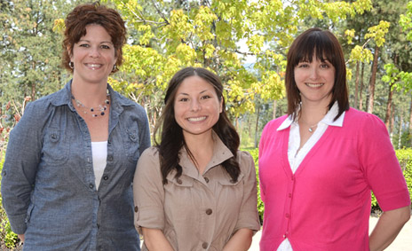 Ceremonies and Events staff (from left): Erin Podmorow, Kimiko Folz and Alanna Vernon