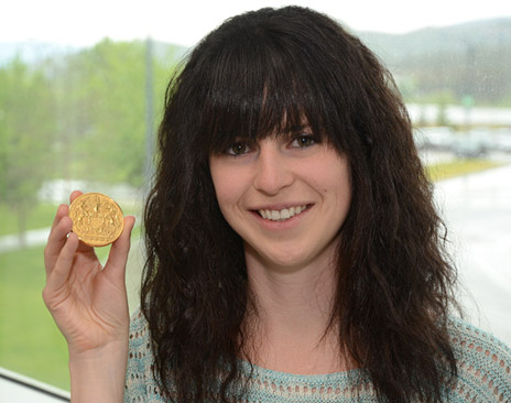 Julie Nutini is the 2012 winner of the Governor General's Gold Medal