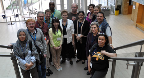 This year's International Counsellor Tour delegation. The delegation is visiting both UBC campuses this week.