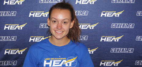 Ali Gill will attend UBC Okanagan and play setter for the Heat in 2012.