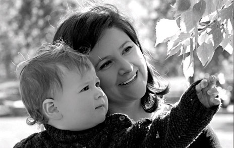 Jennifer Leason with her son Lucas Rempel