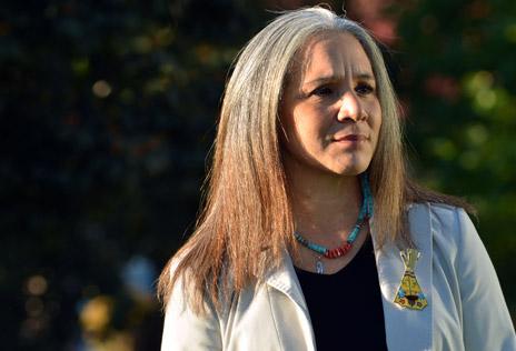 Margo Tamez, Indigenous Studies professor in the Irving K. Barber School of Arts and Sciences.