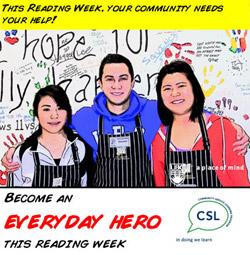Reading Week Volunteers needed