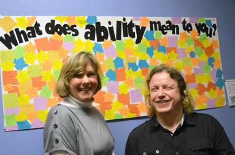 Cindy Bourne, Academic Resource Centre coordinator, and Jess Roebuck, Disability Resource Centre Coordinator
