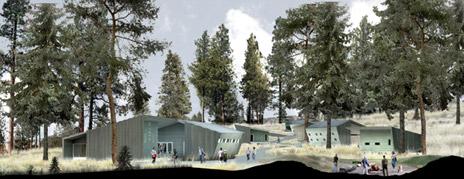 An artist's concept of the award-winning design of the South Okanagan field school
