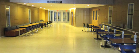 More tables and chairs in common areas of the Arts and Sciences, Arts , Fipke Centre, and Engineering, Management and Education buildings offer students additional places to study this term. More classrooms have been set aside for drop-in use by students, too.