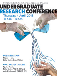 Irving K. Barber School of Arts and Sciences Undergraduate Research Conference