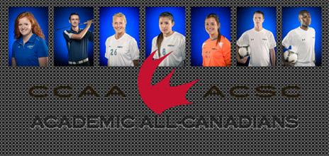 The seven Heat student-athletes that have earned the distinction are: (L to R) Alana Kent, Cody Bell, Hayley Carlson, Jennifer Kidd, Christine Tallon, Austin Jones, David Yesya.