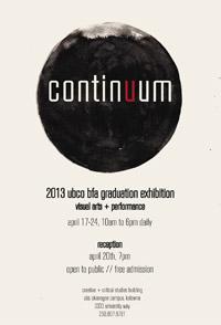 The 2013 BFA Graduation exhibition: Continuum