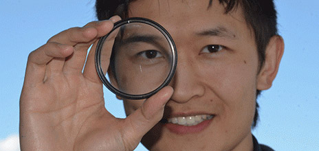 Kenneth Chau's newly published research explains how he and his colleagues developed a negative-index material that can be sprayed onto surfaces to act as a lens.