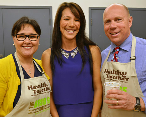 Federal Health Minister Leona Aglukkaq, left, UBC Asst. Prof. Mary Jung and MP Ron Cannan were at the launch event in Kelowna for the Achieving Healthier Weights in Canada's Communities. Jung leads a UBC team that will evaluate the strategy over the next four years.