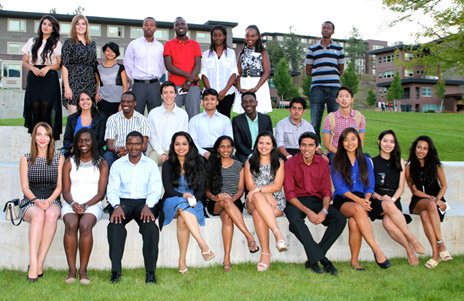 In attendance at the International Student Awards Dinner on September 12 were past and current UBC International Scholars, 2013 International Major Entrance Award recipients and the 2013 International Community Achievement Award recipients.