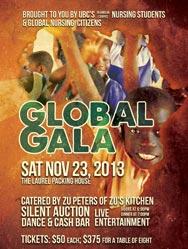 Global Gala 2013 fundraiser poster