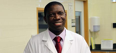 Dr. Olusegun Oyedele, basic science instructor.