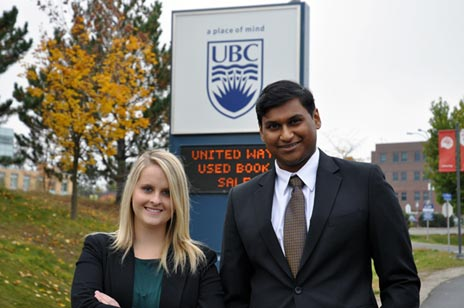 Philosophy, Politics, and Economics students Sonya Mollema and Sutheeksan Sunthoram are the first UBC Okanagan students invited to the prestigious international Model UN conference.