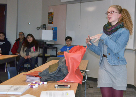 In her English workshop, Allison Hargreaves get students thinking about the importance of writing as part of any post secondary experience.