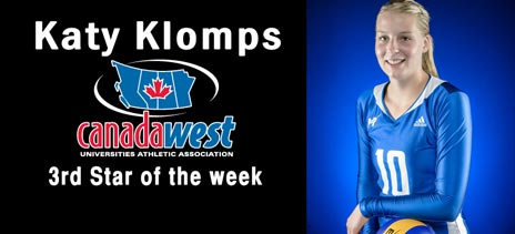 Katy Klomps, 3rd star of the week