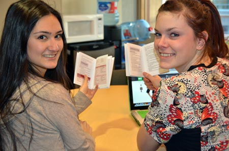Darien Miyata and Caitlan Stephens, fourth-year nursing students at UBC's Okanagan School of Nursing, have revised and printed a handbook that will be given to nurses who work in rural outpost health clinics in Africa.