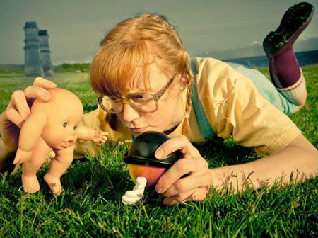 Little Orange Man is directed by Kathleen Greenfield, originally from Kelowna, who co-created alongside performer Ingrid Hansen.