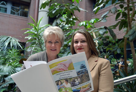 Carole Robinson and Janelle Zerr are looking for feedback on the new decision support guide that has been designed to help family members who are caring for terminally-ill patients.