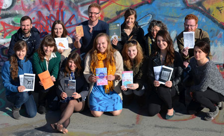 The fourth-year creative writing class is putting together its Dig Your Neighbourhood Rutland project for a public launch on April 12. Here the class shows off some its creations, which includes limited-edition books of poetry, history and literature, a music CD, lifestyle magazine and features about homes and businesses.