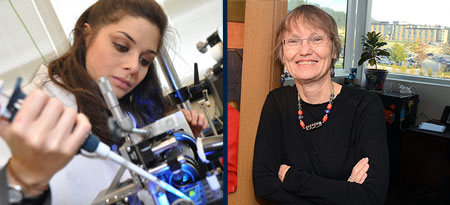 Mina Hoorfar, associate professor of engineering, and Susan Crichton, associate professor of education.