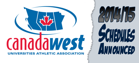 2014-15 Canada West Season Schedules Announced graphic