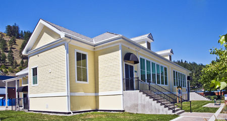 The Yellow Schoolhouse Exhibition will be located in the newly renovated primary school at 5864 Beach Avenue, in Peachland. Photo by Christopher Byrd