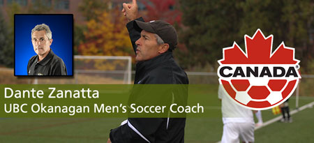 Men's soccer coach Dante Zanatta is one of the highest trained coaches in Canada.