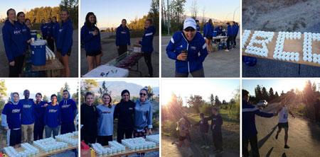 Photo gallery: Heat athletes volunteer at second annual Kelowna Wine Country Half Marathon