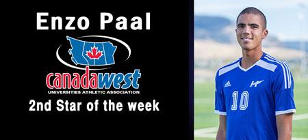 2nd Star: #10 Enzo Paal, UBC Okanagan (Soccer)