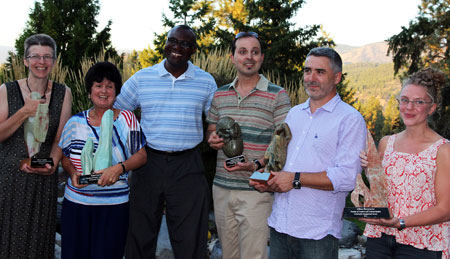 From left: Marie Loughlin, Grisel Garcia-Perez, Wisdom Tettey, Anderson Araujo, Francisco Pena and Allison Hargreaves.