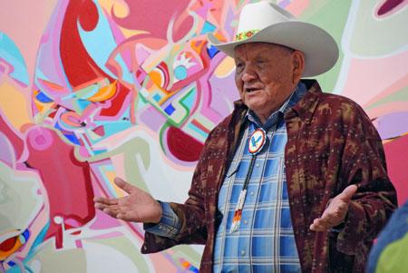 Celebrated Aboriginal artist Alex Janvier is UBC's artist-in-residence.