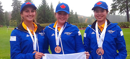 The Heat women's golf team have won their fourth national medal in the past six years this past week after earning the bronze in Quebec.