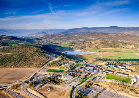Okanagan campus aerial photo