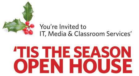 'Tis the Season Open House graphic
