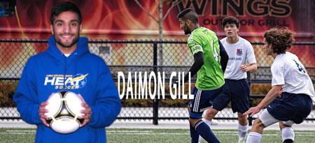 Daimon Gill will join the backline of the UBC Okanagan Heat men's soccer's team next fall.