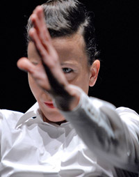 Belgian dancer/choreographer Lisbeth Gruwez