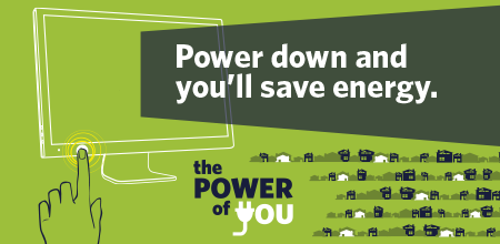 Power Down To Save Energy graphic