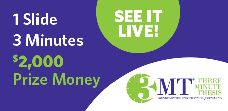 Three Minute Thesis finals graphic