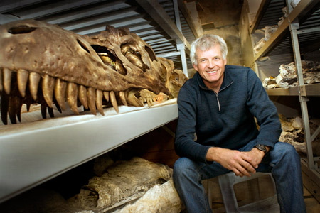 Philip Currie helped found the Royal Tyrrell Museum of Palaeontology in Drumheller, Alberta (photo courtesy of The Alberta Order of Excellence).
