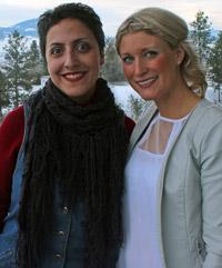 Serveh Naghshbandi (left) and Kathryn Struik have advanced to UBC Okanagan's 3MT finals
