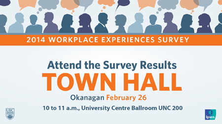 2014 Workplace Experiences Survey Town Hall graphic
