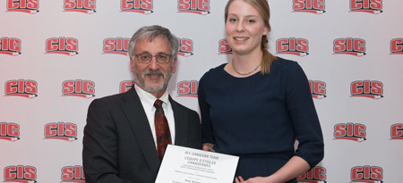 Middle blocker Katy Klomps is a CIS All-Canadian